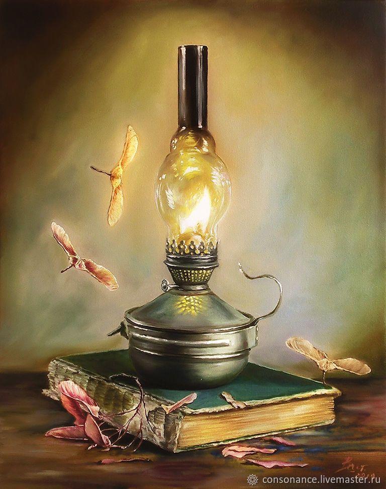 """""""Натюрморт с лампой и книгой"""" – заказать на Ярмарке ..."""