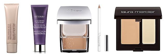 AW12 Nude - Base: Laura Mercier Tinted Moisturiser, By Terry Hyaluronic Face Glow, Dior Skin Creme Gel Makeup, Omorovicza Correcting Pencil, Laura Mercier Secret Camouflage