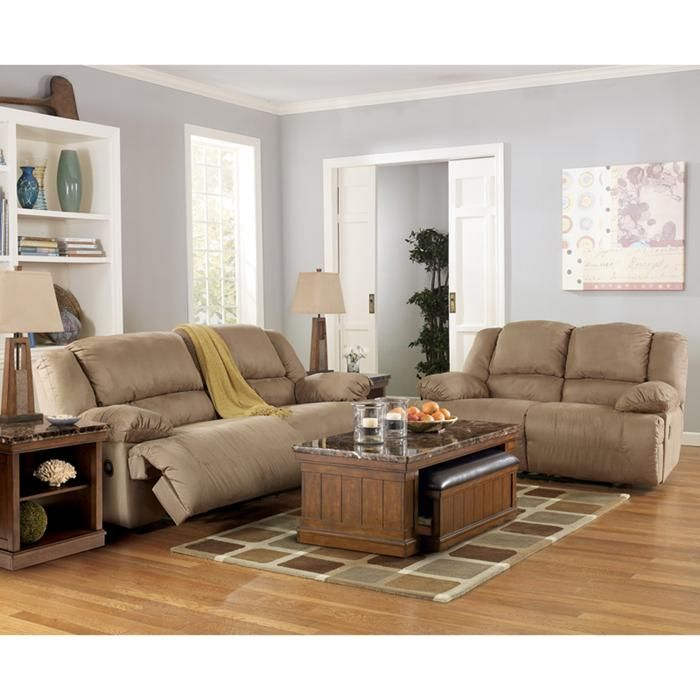 nebraska furniture mart ashley mocha microfiber reclining sofa and rh pinterest com