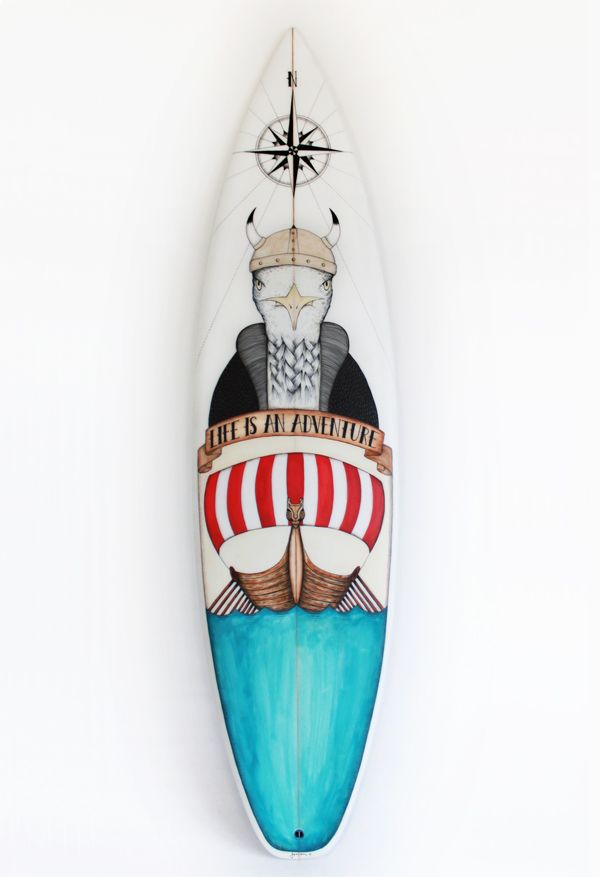 viking seagull surfboard fun stuff pinterest surf planche de surf et posca. Black Bedroom Furniture Sets. Home Design Ideas