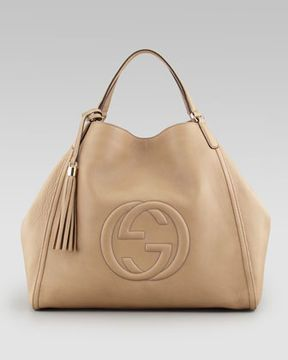 4d6db2d665a6 ShopStyle.com: Gucci Soho Large A-Shape Hobo Bag, Cream $2,240.00 ...