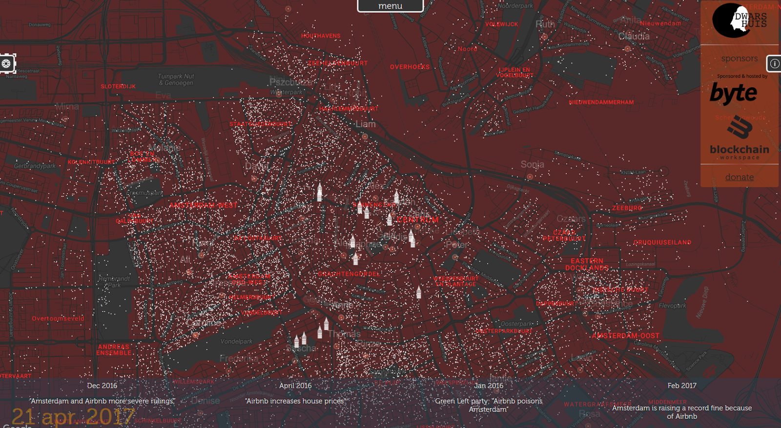 Maps that explain the World Airbnb in