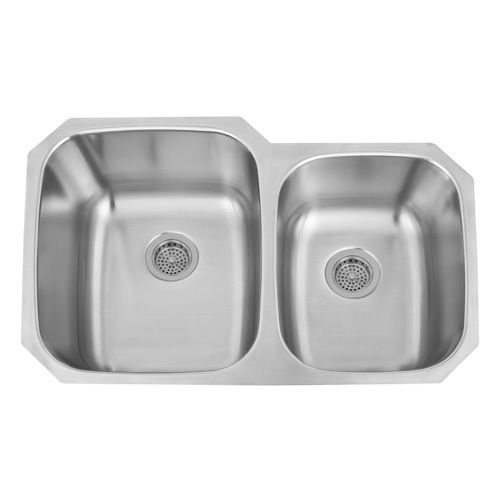 32 inch double bowl 60 40 undermount stainless steel kitchen sink rh pinterest co uk