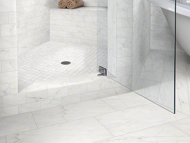 Shaw Maximus Carrara 12 X 24 Fabrique Tile Online White Marble Bathrooms Carrara Tiles Bathroom Interior Design
