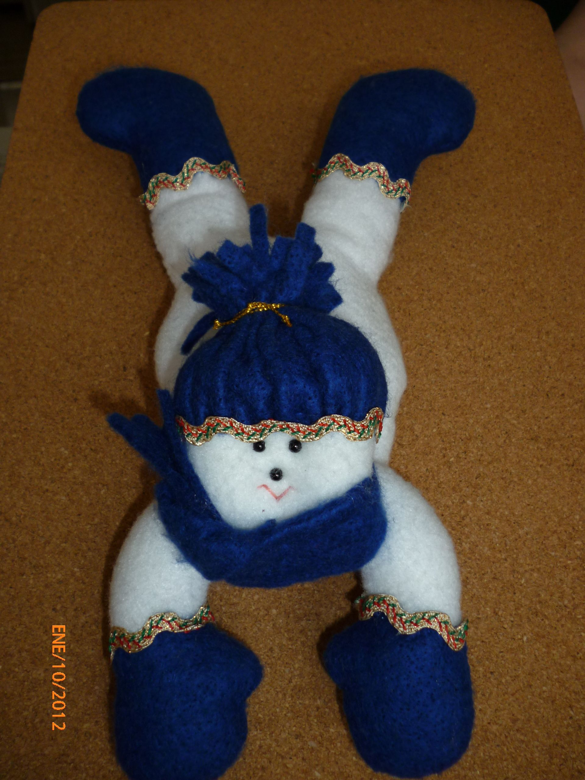 Muñeco de nieve acostado. | paño lency | Pinterest | Nieve, Muñecos ...