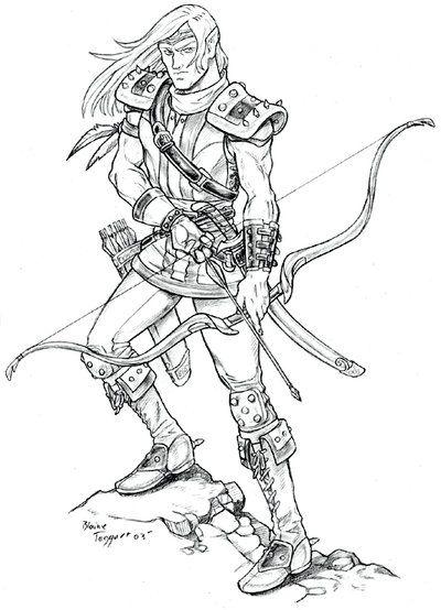 Elf Ranger Fantasy Art Dolls Elf Ranger Comic Artist