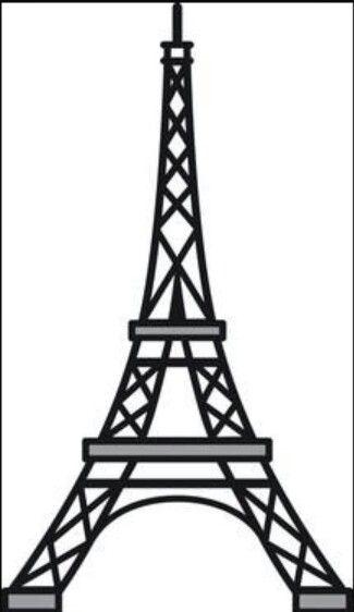 Eiffel Tower Stained Glass Pattern Eiffel Tower Craft Eiffel