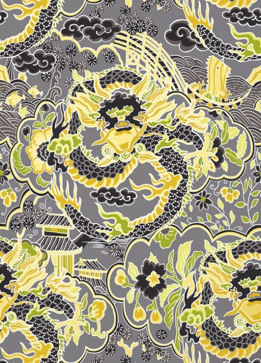 imperial dragon wallpaper a far east inspired wallpaper with a grand rh pinterest com