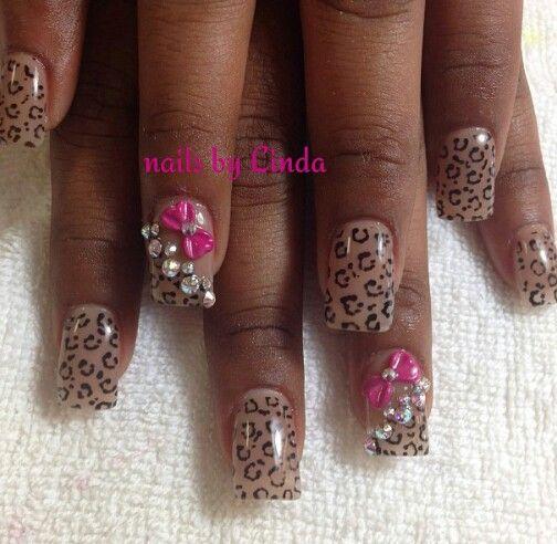 Pink Bow Cheetah