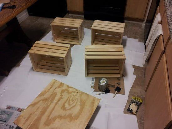 how to make an inexpensive crate coffee table coffee table wine rh in pinterest com