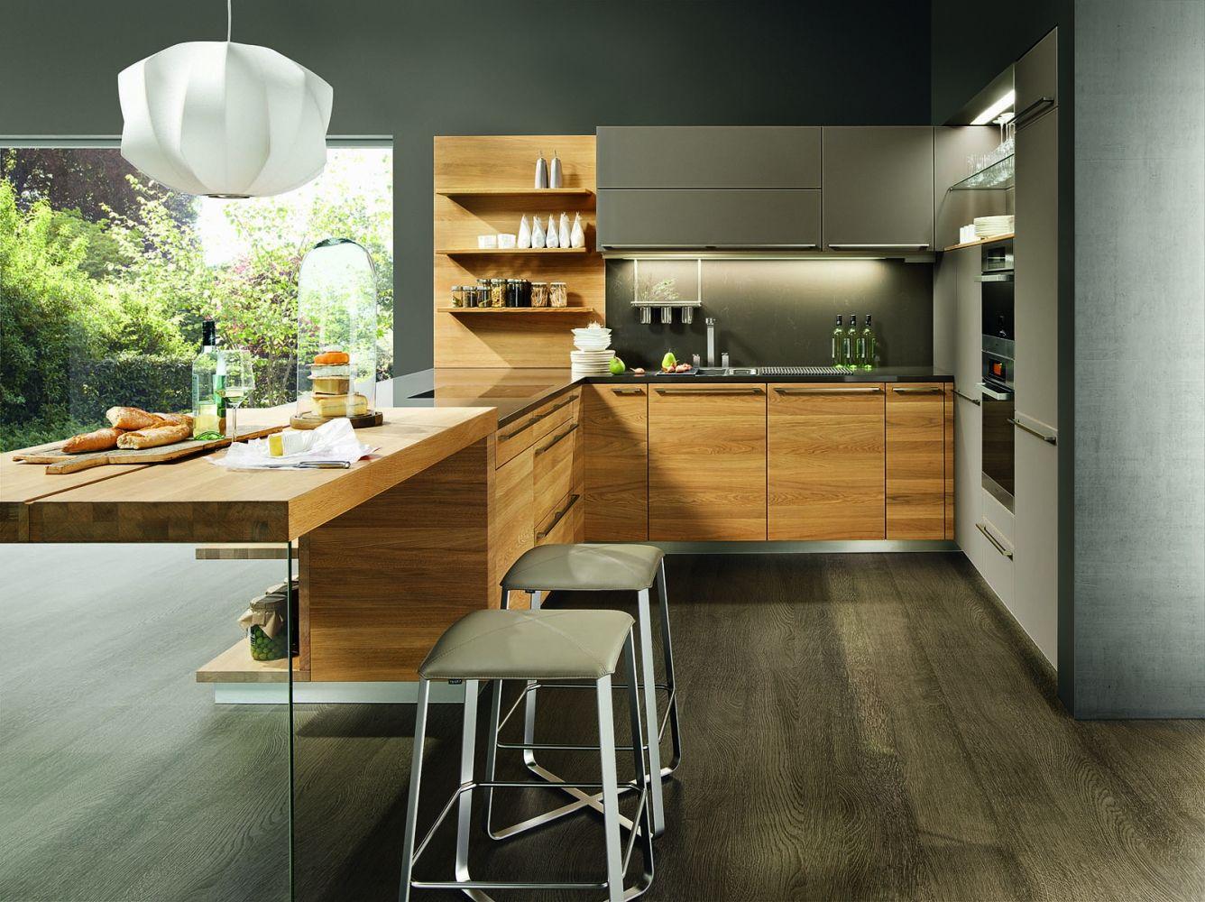 Linee moderní kuchyně do U, bytový design / modern