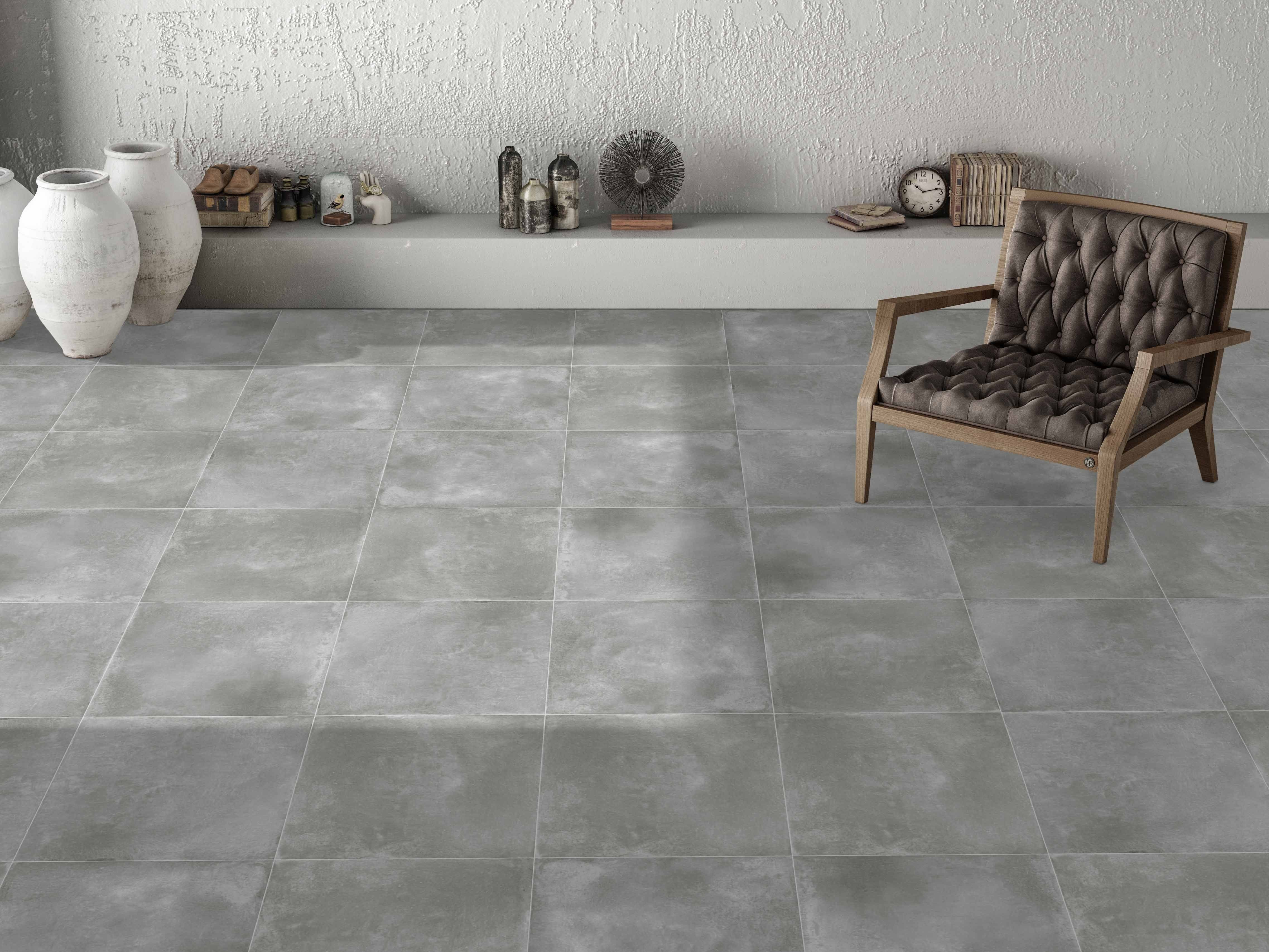 Urban Chic Concrete Effects Give This Energy Grey Porcelain Tile Style At Genuine Low Prices
