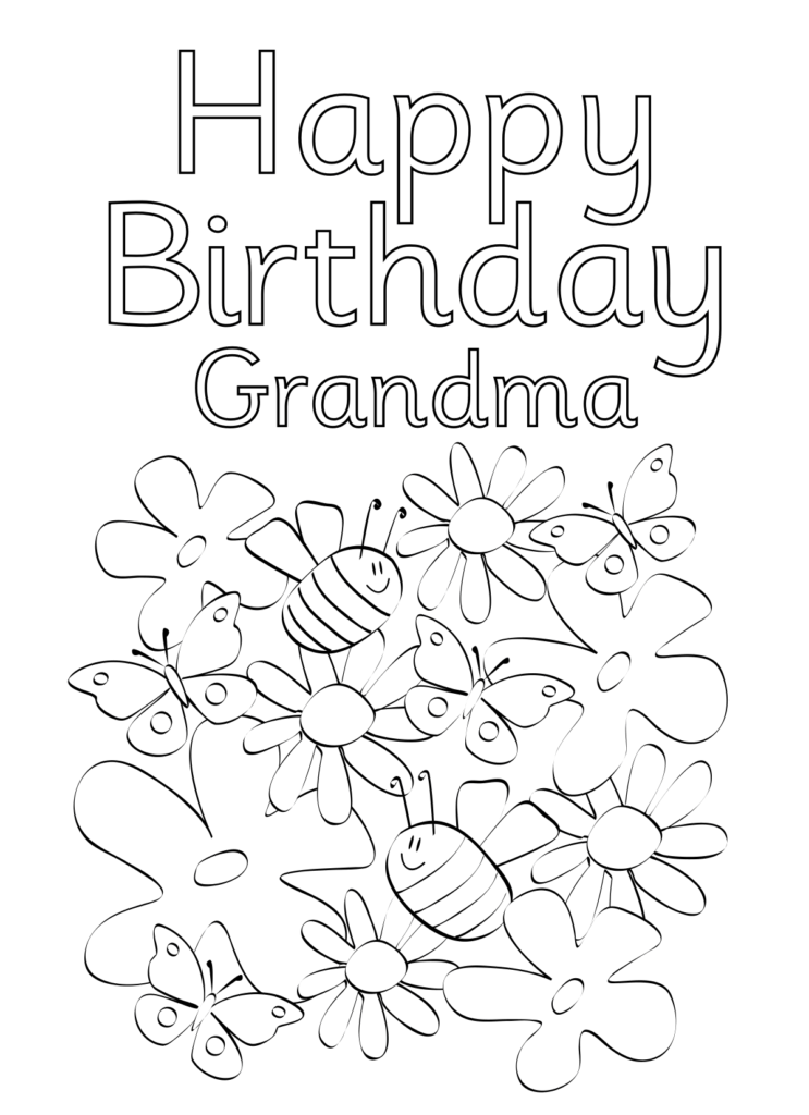 Happy Birthday Grandma Printable Card : happy, birthday, grandma, printable, Coloring.rocks!, Happy, Birthday, Coloring, Pages,, Cards