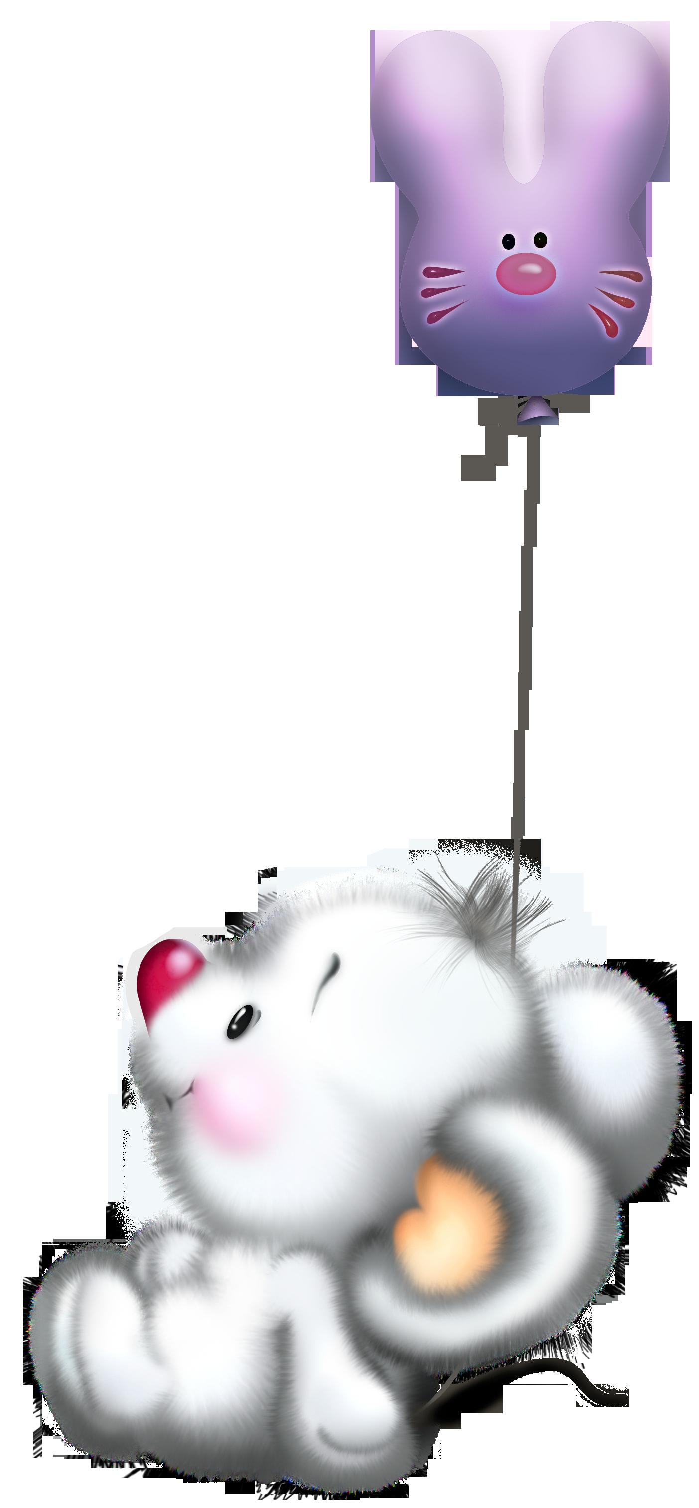 Cute White Mouse with Balloon Cartoon Free Clipart | clip art ...