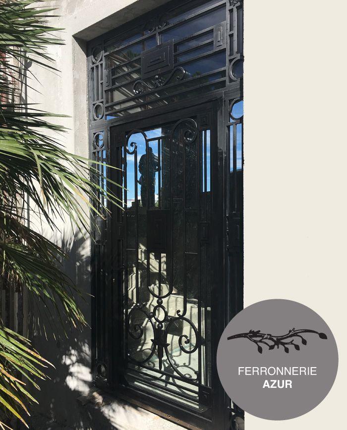 Porte Du0027entrée Art Déco En Fer Plein Et Verre à Sainte Maxime 83 Occasion