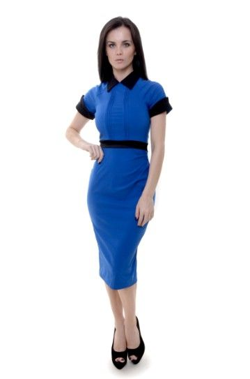 Royal Blue Vermont Pencil Dress    Price:£95.00    Autumn/Winter 2012 is all about adding a feminine twist to masculine cuts and the Vermont does this perfectly!