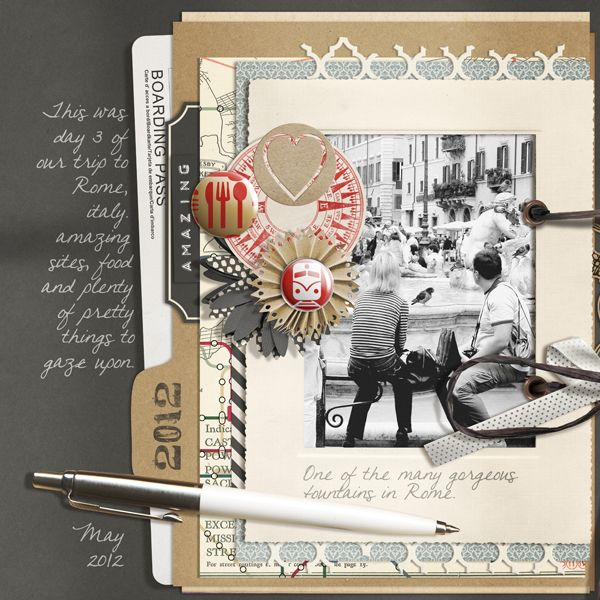 Travel Journal Collection Biggie digital scrapbooking kit, by Brandy Murry: Scrap Girls