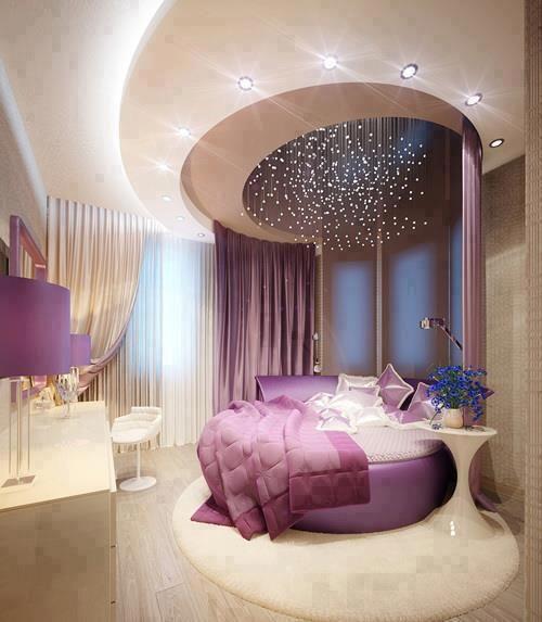 Keep The Harmony Of The Room In Our Interior Design:Elegant Bedroom  Interior Design Purple
