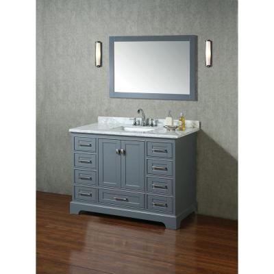 stufurhome newport 48 in w x 22 in d vanity in gray with marble rh pinterest com