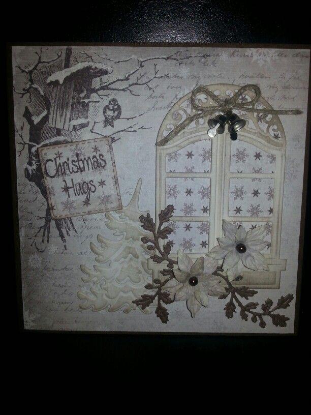 Christmascard. Made by sylvia g.