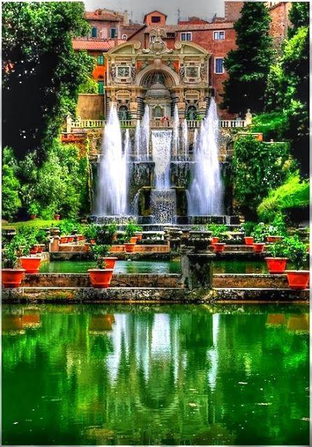 Villa d'Este is a villa in Tivoli, Italy - near Rome