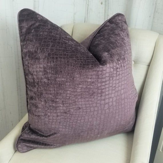 Purple Velvet Pillow Covers Pillows 26x26