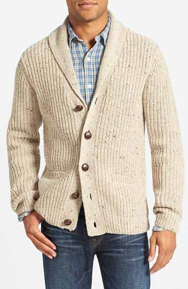 986bd81d24d Gant Ribbed Shawl Collar Cardigan available at #Nordstrom | Dad's ...