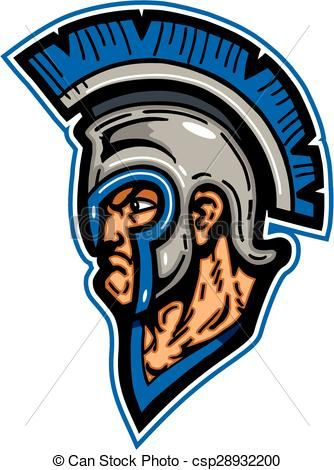 vector trojan mascot head stock illustration royalty free rh pinterest com  usc trojan head logo