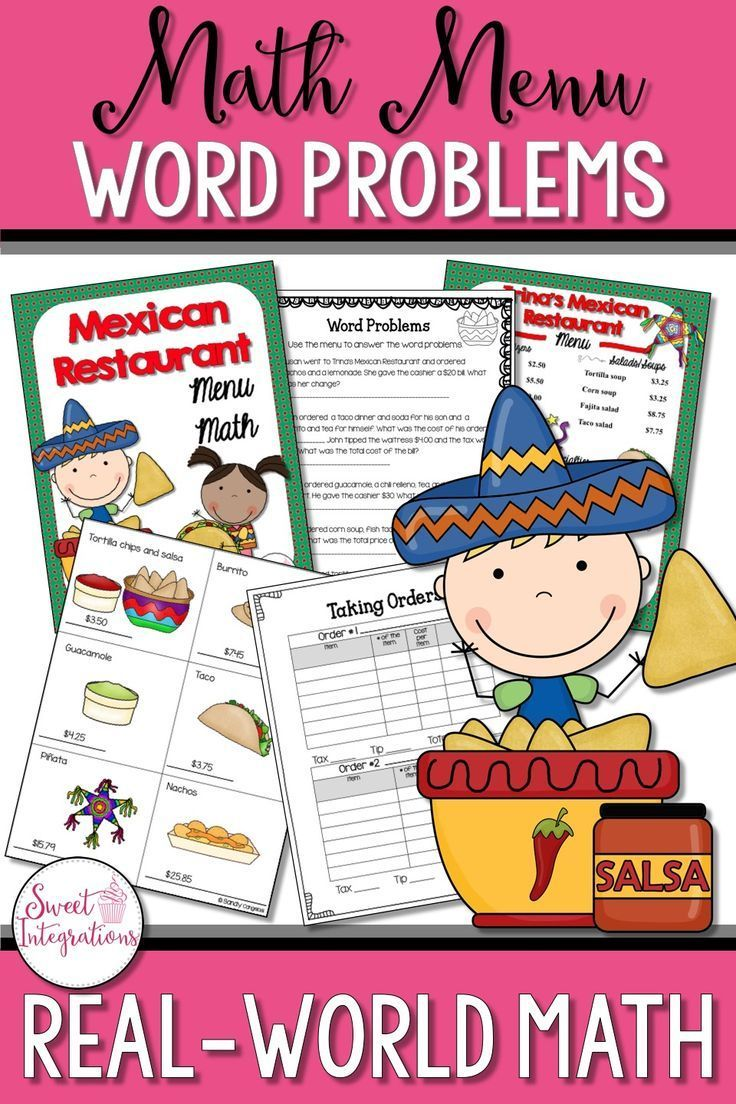 Students Can Solve Real World Math Problems With This Fun Math Menu Unit Your Students Will Use The Menu To Answer The Word Math Projects Math Math Worksheets