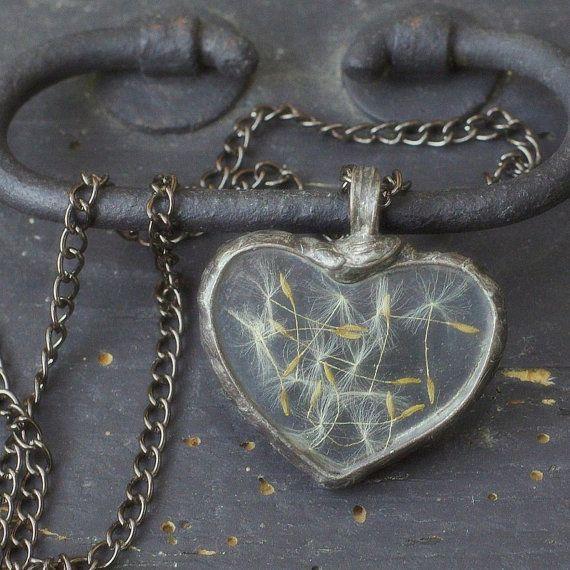 Wedding Necklace Real Plant Necklace Dandelion By PentaxPL