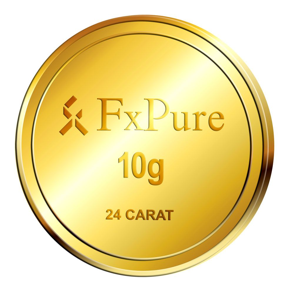 Fxpure 10 Gram Bis Hallmarked 24 Carat Gold Coin With Highest 995 Purity Gold Coins