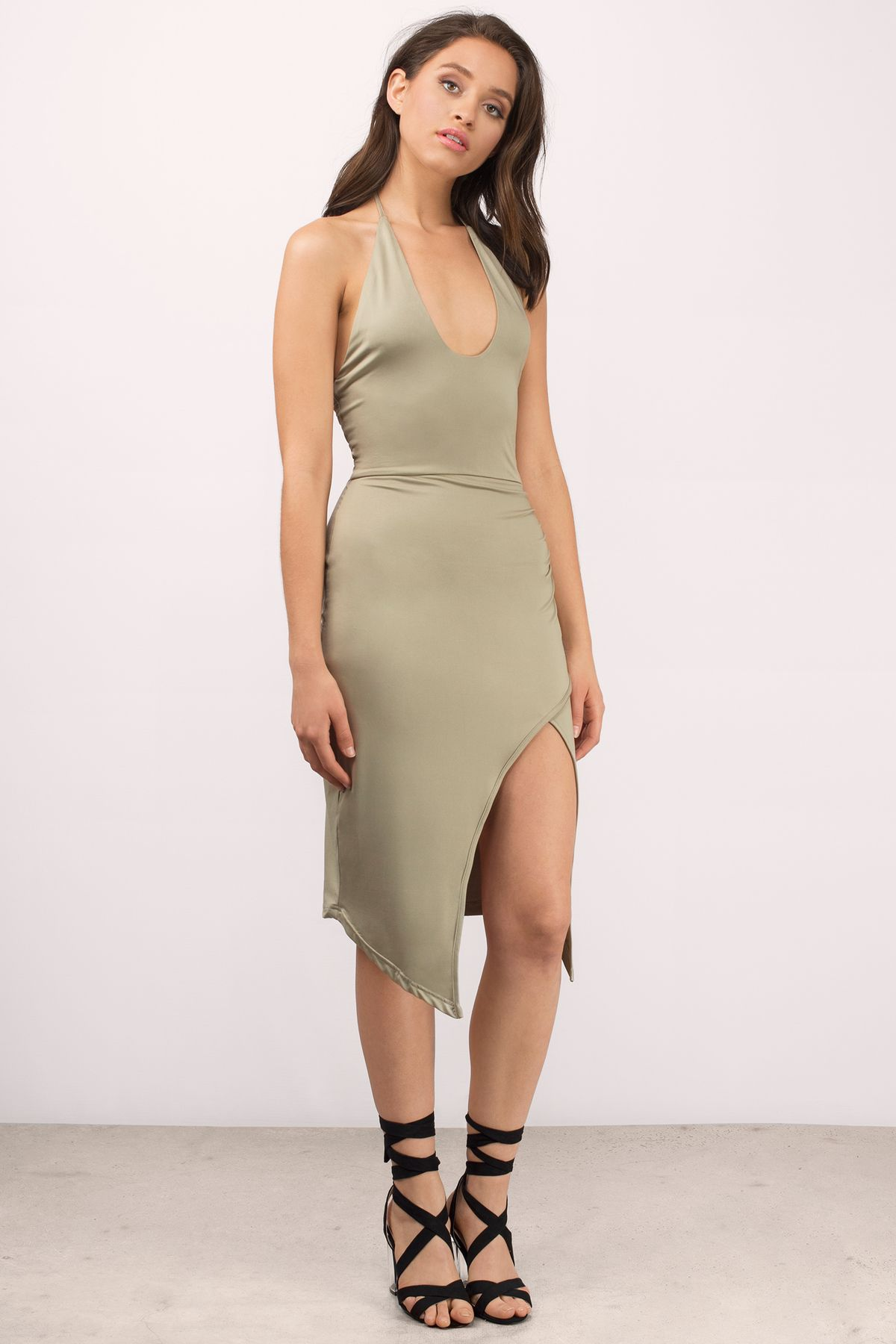 Desyree halter midi dress night out pinterest dresses outfits