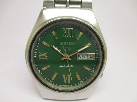 Vintage Genuine Seiko 5 Watch Automatic 21 Jewels Day Date Etsy Seiko Wrist Watch Jewels
