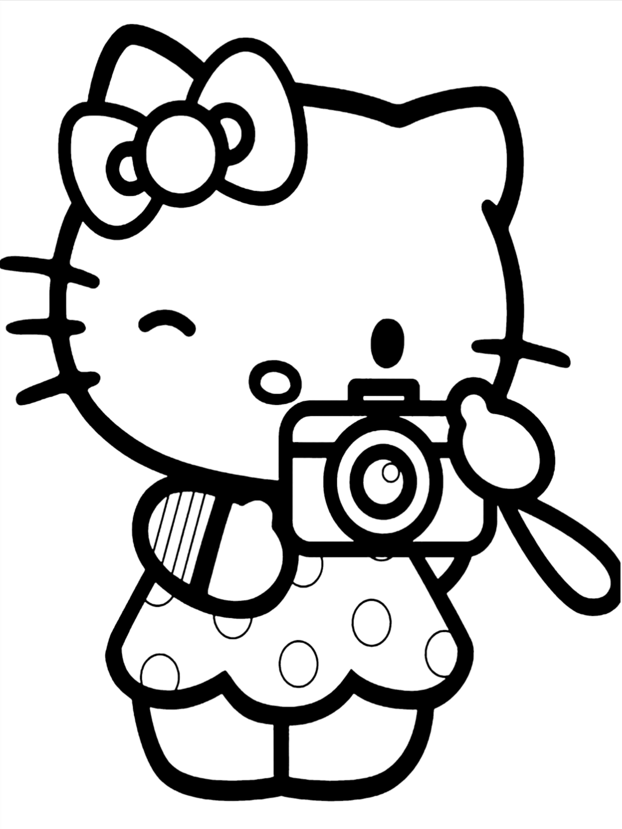 50 Hello Kitty Coloring Pages For Kids Hello Kitty Colouring Pages Hello Kitty Coloring Cool Coloring Pages