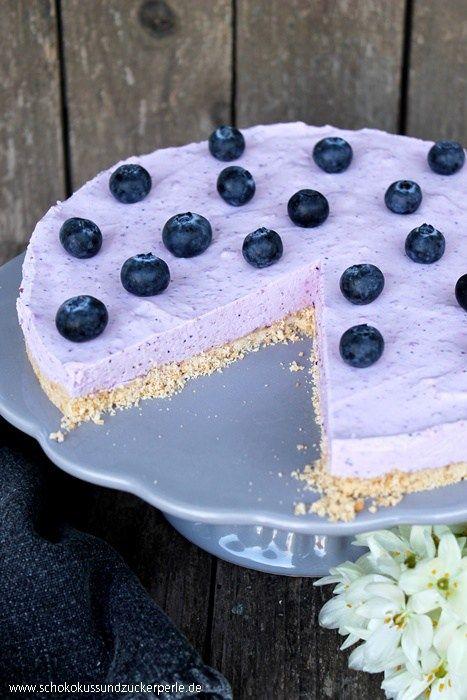 Heidelbeer-Butterkeks-Torte ohne Backen #tortenrezepte