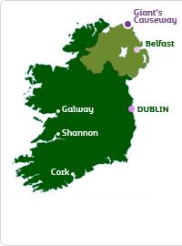 Map Of Ireland Giants Causeway.Www Causewaycoastandglens Com Ireland Map Location Of Giant S
