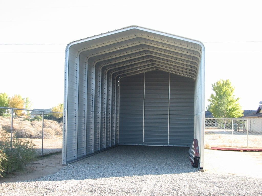 Steel rv carport kit by absolute steel steel carports for Rv shed ideas