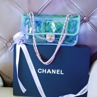 3541e0be4c8 Chanel new 2018 spring summer collection clear plastic pastel bag. gorgeous  chanel clear PVC flap
