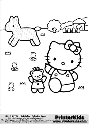 Hello Kitty Outside With Friends Coloring Page Preview Hello Kitty Colouring Pages Hello Kitty Coloring Kitty Coloring