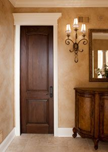 Solid Cherry Wood Door Stain Grade Dark Walnut Finish