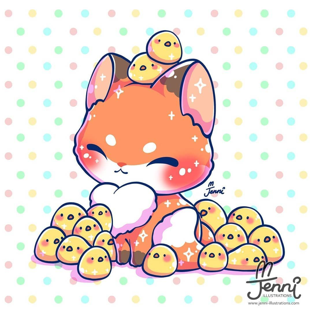 3 782 Curtidas 36 Comentarios J E N N I Jennillustrations No Instagram Cute Kawaii Animals Cute Animal Drawings Kawaii Cute Kawaii Drawings