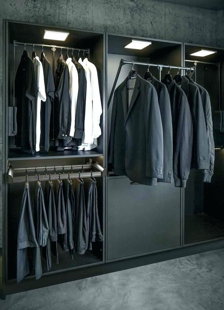 pull down clothes rod lighted closet rods can be helpful