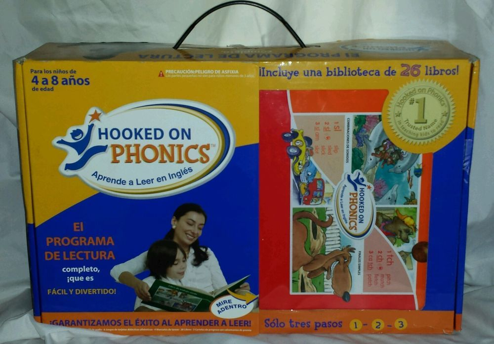 New Hooked On Phonics Kids Ages 4 8 Aprende A Leer Ingles Learn To