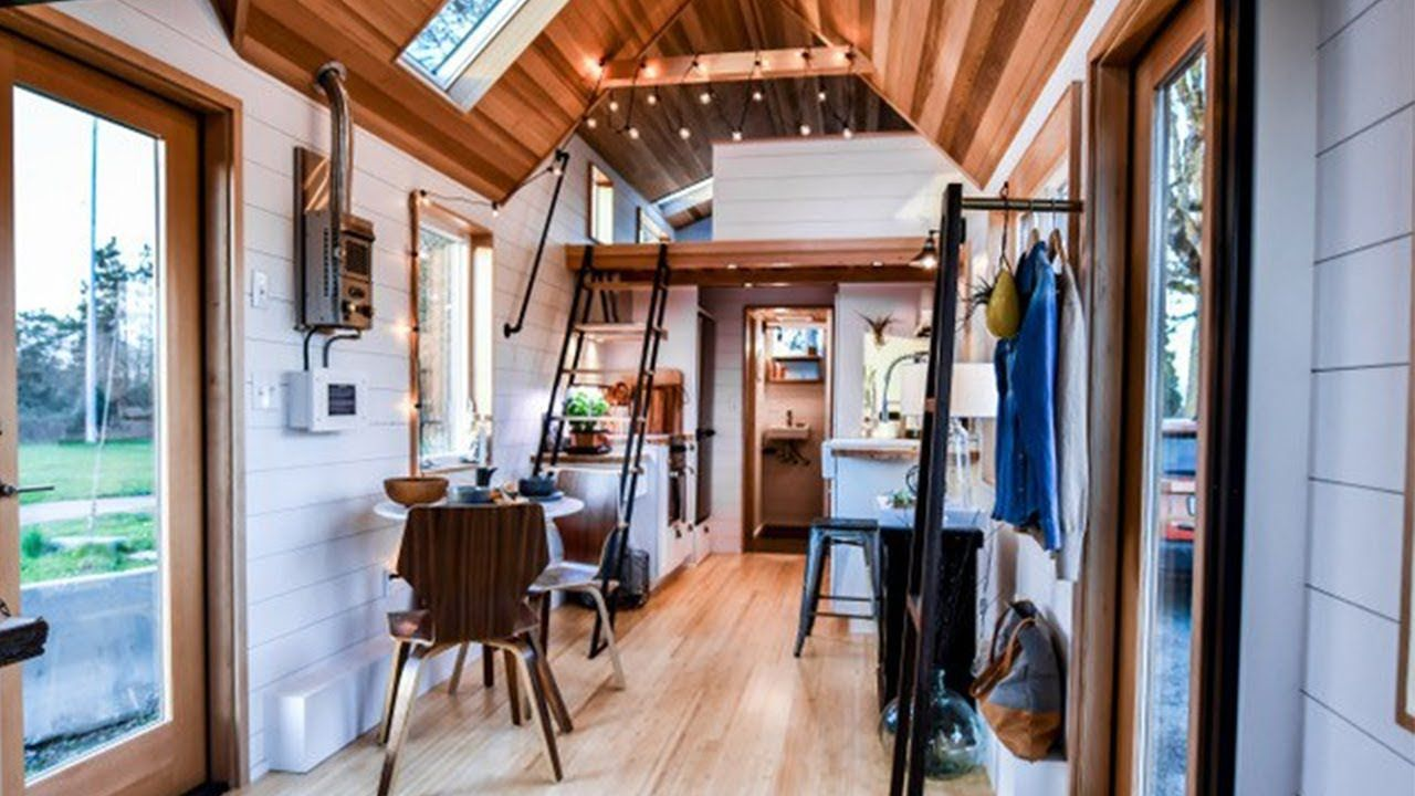 modern 28ft urban tiny house with 3ft nook bump out and elevator bed tiny house listing more. Black Bedroom Furniture Sets. Home Design Ideas