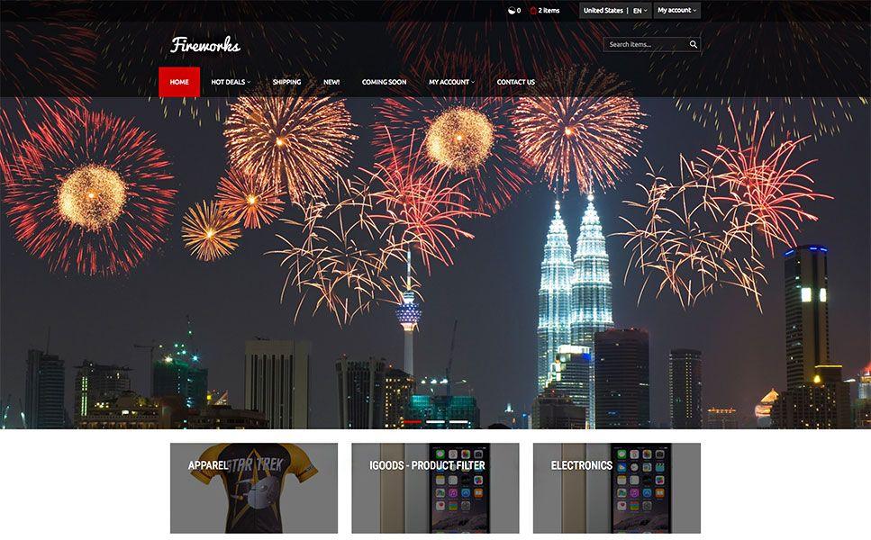 Fireworks X-Cart Template | Ecommerce Templates | Pinterest ...