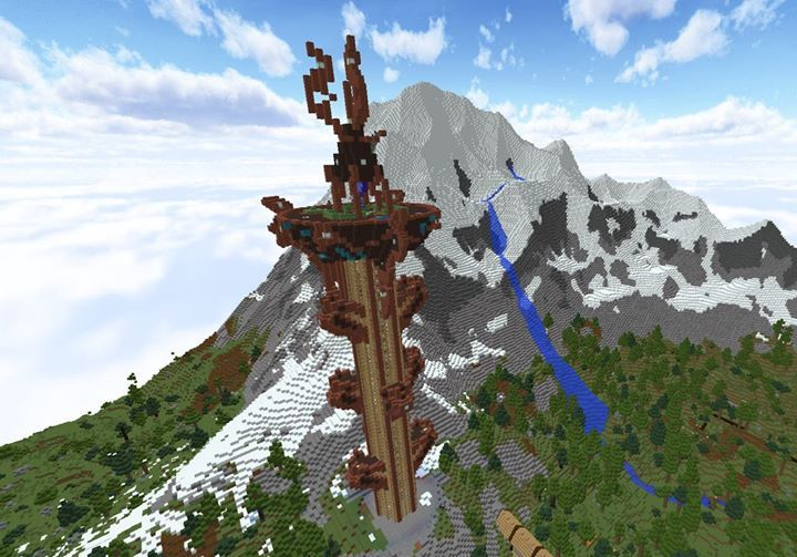 A Sheikah Tower From Zelda Breath Of The Wild Incredible Minecraft Pcgames Minecraft Castle Minecraft House Designs Minecraft Buildings