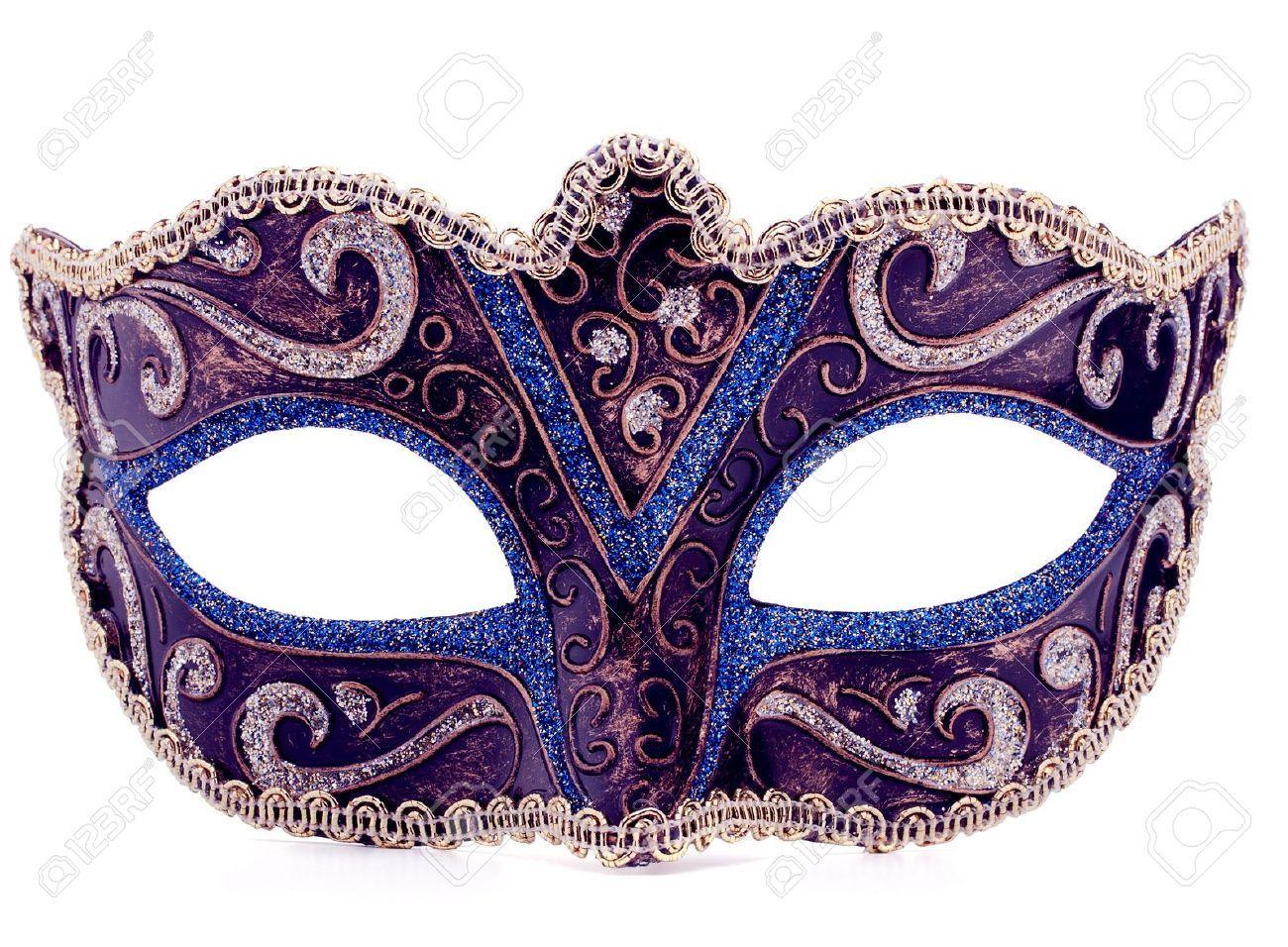19514775-venetian-carnival-mask-isolated-on-white ...