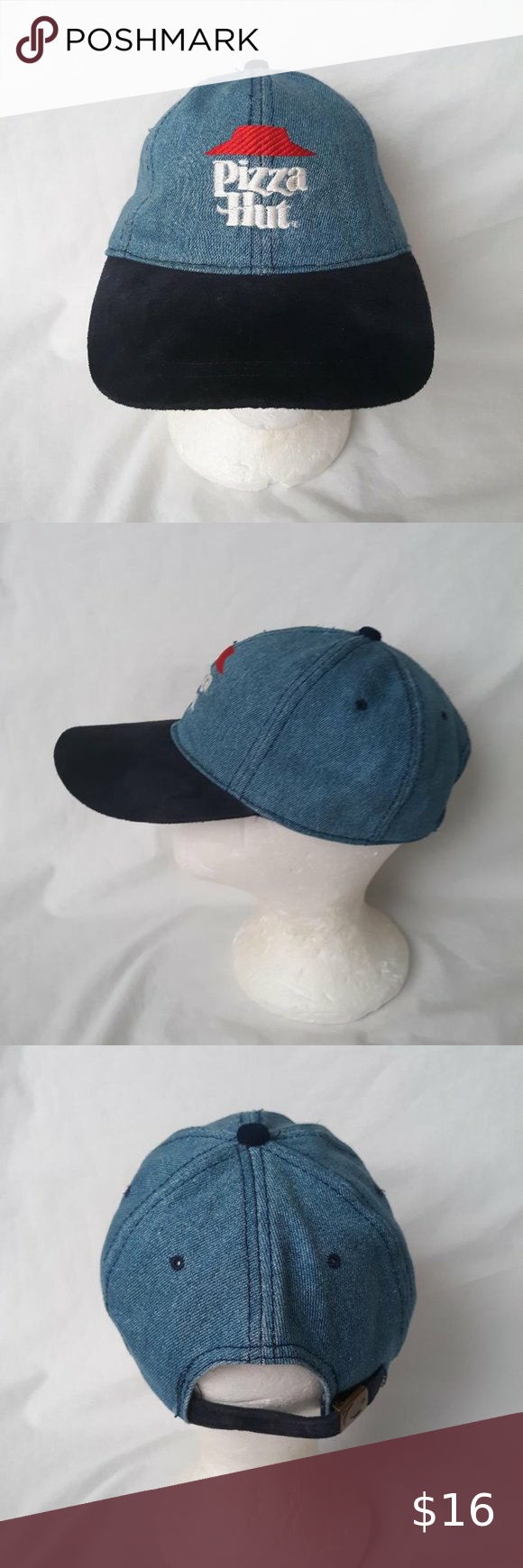 Pizza Hut Denim Blue Hat Blue Hat Blue Denim Blue