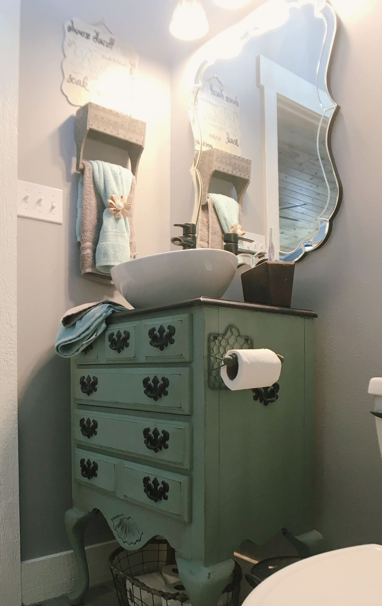 Farmhouse Vanity Vessel Sink Farmhouse Bathroom Diy