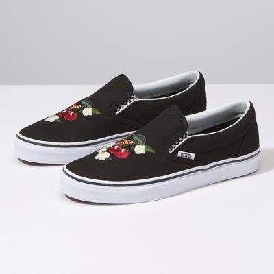 Checker Floral Classics Slip On   Vans